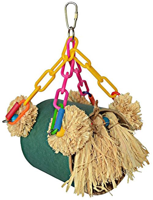 00940 Tassel Tunnel is an awesome hideaway and hangout for your small to medium-sized feathered friends.