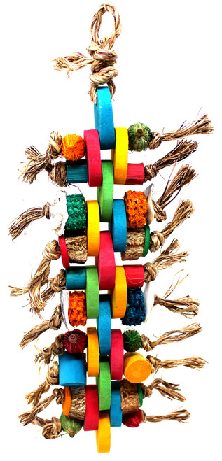 A colorful array of mahogany pods, corn husks, bamboo, and abaca will entice your companions into fun, healthy, play activities.