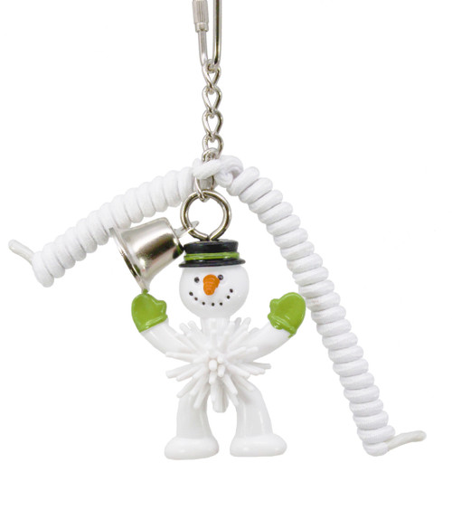 Snowman White 818X Christmas Lace. This limited availability toy is for some Christmas fun for your cherished little-feathered friend over the festive season.