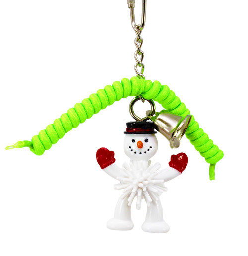 Snowman Green 818X Christmas Lace. This limited availability toy is for some Christmas fun for your cherished little-feathered friend over the festive season.