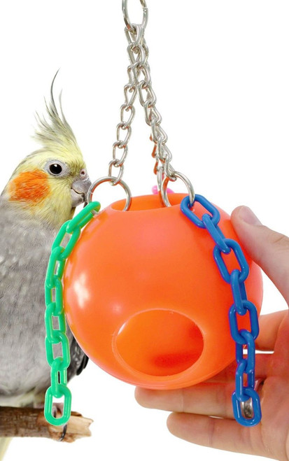 1437 Small Jolly Ball is the perfect hideaway for your small-sized feathered friends.