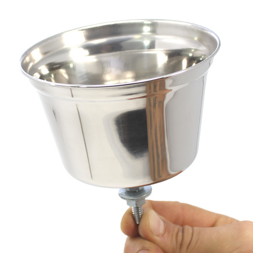 800128 Stainless Steel Water/Seed Cup 16 oz.