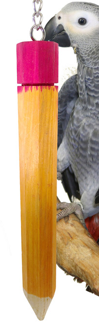 1662 Large Pencil, a great hanging foot toy that is chewable and fun to play with for your medium-sized feathered friends.