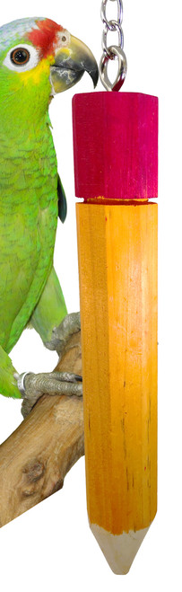1663 Medium Pencil, a great hanging foot toy that is chewable and fun to play with for your medium-sized feathered friends.