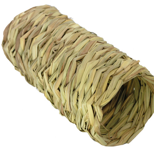 2018 Medium Seagrass Cylinder, this open-ended seagrass tube has multiple uses, it can be used in your bird toy crafting projects or just as a foraging foot - talon toy for your medium to large sized feathered friends.