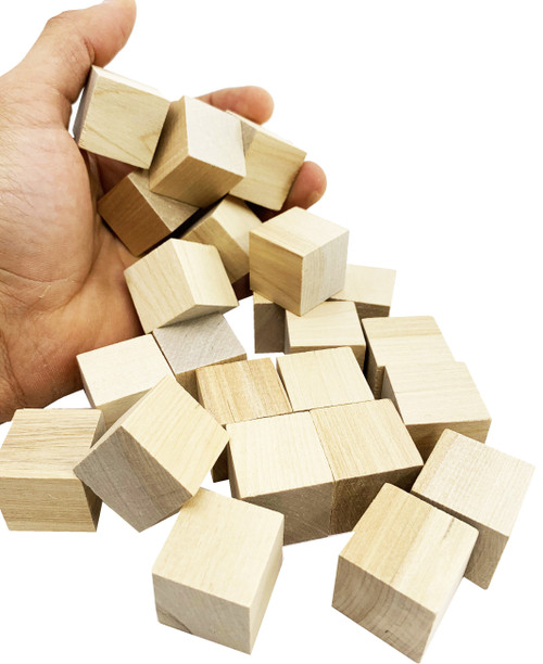 The 3167 pk24 Small Wood Cubes come with 24 evenly cut small wooden cube foot and chew toys for your winged friend! The cubes in the 3167 are uncolored.