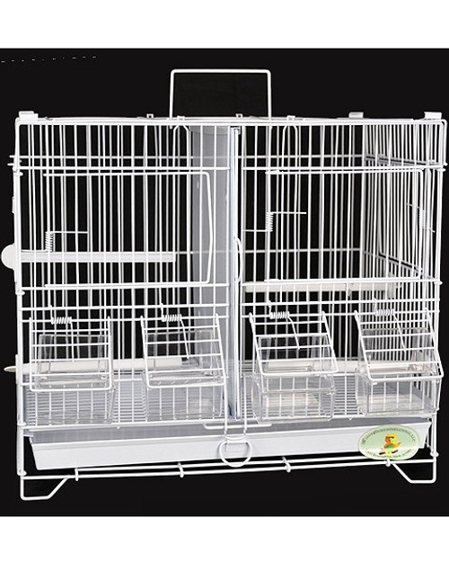 King's Cages C1510 Double Canary Breeder Cage. Measures 15 Inches wide by 13 1/2 inches tall by 10 inches deep.