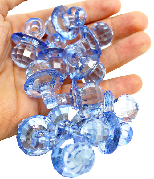 The 2170 pk12 Small Crystal Pacifier Blue from Bonka Bird Toys are eye appealing and versatile bird foot toy for your perfect percher and crafting projects.