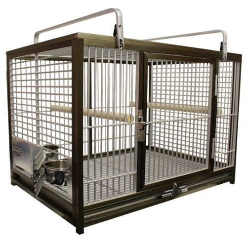 OPEN BOX ITEM Bronze color Kings cages NEW ATM 2029 Aluminum Travel Carrier. 20X28X20.