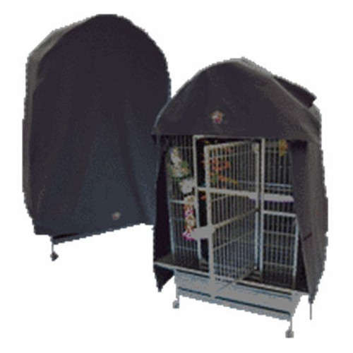 "Model 4032DT for dome top cages fits ""dome top"" cages with a width of 38"" thru 40"" and a depth of 30"" thru 32"" length from top to bottom of the cover is 64"". CozzzyCovers cage covers provide a darkened and secure environment for promoting sleep and good health for any bird."