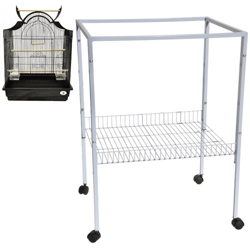 Model ES 8. A rolling metal stand that fits all 25-inch by 21-inch cages.