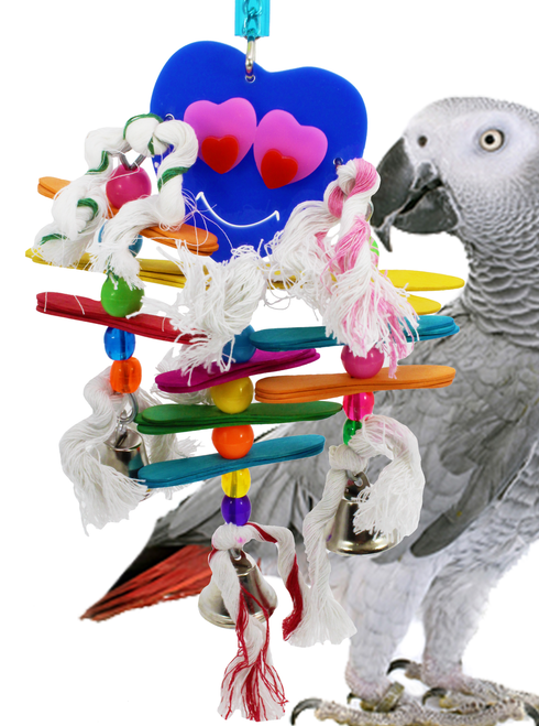1026 Hearty, will surely fill your medium-sized feathered friends desire with a little bit of everything that this toy brings to the table.