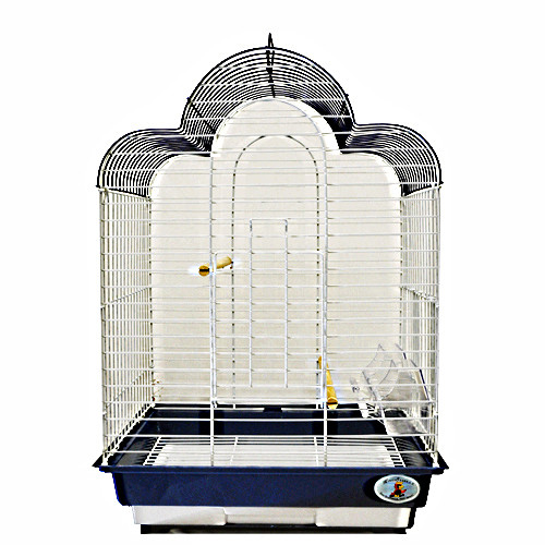 ES 1814 T. Triple top bird cage for cockatiels, finches, parakeets, canaries, and lovebirds.