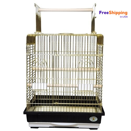 Model ES 2521 P.  A handsome open top cage that will delight your Cockatiels, Parakeets and other small to medium size birds.