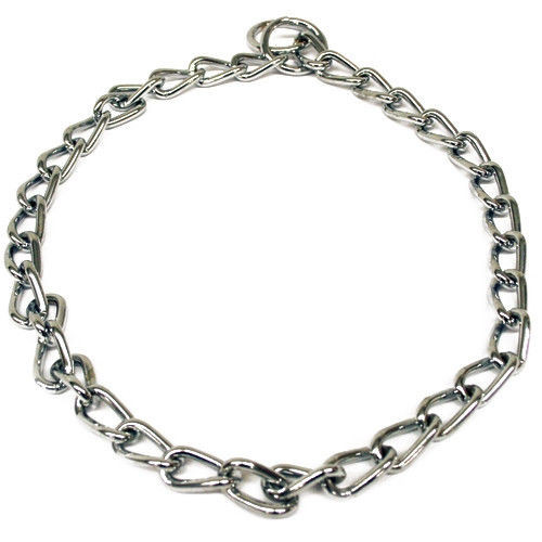 Heavyweight chain dog training collars, these are chrome plated for maximum strength and durability, they will not tarnish, rust or break.