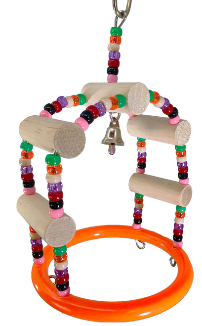 1948 play gym swing is a perfect toy for that small feathered friend in your family, it is full of perch, climb and play.