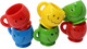The 1191 Pk6 Mini Mugs from Bonka Bird Toys are colorful and versatile bird foot toys. This pack of (6) mini mugs is great for tons of different activities.