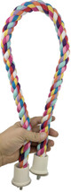 1049 medium rope perch is a colorful soft perch for that medium sized bird in your family.
