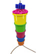1188 Treaty is a playful foraging toy for that busy medium-sized feathered friend in your family.