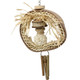 The 1415 Dreamcatcher from Bonka Bird Toys is a natural and super chewable medium sized bird toy. This toy has lots of assorted natural materials to thrill beaks!