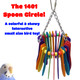 The 1401 Spoon Circle from Bonka Bird Toys is a wonderful colorful small-sized bird toy for your feathered friends! This bird toy has a quick link connector.