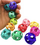 12 colorful tiny bamboo balls makes for the perfect foot - talon toy for your bird. A great item to throw around, kick, chase, or just plain old horse around.