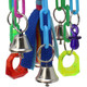 The 1681 Bizzy Chains from Bonka Bird Toys is a fun and wild small sized toy to thrill your beaked buddy. This bird toy has lots of materials and textures for beaks.