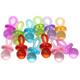 The 1694 pk12 Colorful Acrylic Pacifiers from Bonka Bird Toys are beautiful bird enticing foot toys that will look great in any cage or aviary they are placed.