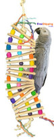 1667 Wiggly Ladder is a fun time toy for your medium to large-sized feathered friends.