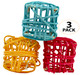 The 2030 3pk Colored Vine Cubes are cute and simple foot toys for feathered friends of all ages! The pack includes (3) brightly colored ready to play with vine cubes.