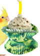 The 1925 Camo Cake from Bonka Bird Toys is a classic shreddable bird toys thats perfect for small and medium sized pet birds! This is a great light shred bird toy!