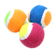 The 2044 pk3 Mini Tennis Balls from Bonka Bird Toys are superb foot toys for pet birds and other pets! Each of the tennis balls are durable, fuzzy and bouncy!
