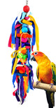 The 2161 Long Cuddle from Bonka Bird Toys is the best way to compliment your medium sized feathered friends cage with a cuddly, pully, colorful bird toy!