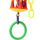 The 3580 Ring Drum from Bonka Bird Toys is a durable and noisy good time for your feathered friend. This bird toy looks great in cages with its bright colors!