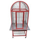 """The Kings Cages ACA 2522 Aluminum Arch Bird Cage serves as a comfortable and spacious home for your medium to large pet bird. The cage measures 25"""" wide and 22"""" deep, with an inside height of 45"""" measuring from the bottom grill to the inside top of the cage. The aluminum construction is durable and long-lasting for years of trusted use."""