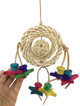 1477 Bonka Bird Toys Saturn Medium Shredder is a colorful plethora of fun time options. Twisted, natural vine balls, and loops are decorated with a colorful array of chewable wooden stars.