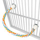 The R18 Parrot Rope Perch from Bonka Bird Toys is a colorful and bendable cotton rope perch for your beaked buddy. This smaller sized rope perch is perfect for cages
