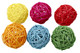 Medium colored vine balls, a colorful foot and forage ball, great to throw around the cage or use them when making a toy, multiple uses. Measures approximately 2 inches in diameter, comes in assorted colors and pack sizes.