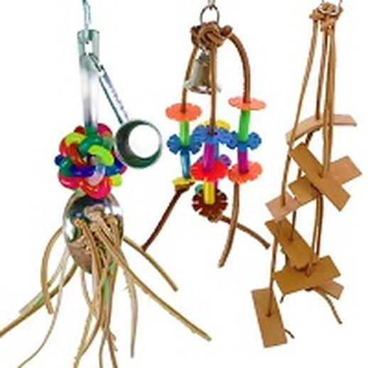What are awesome leather bird toys?