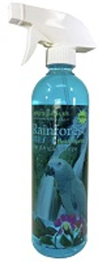 Can I Get Rainforest Mist Bath Spray for African Greys in Larger Bottles?