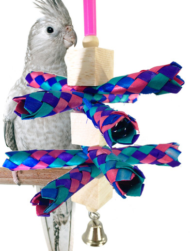 What is a great balsa foraging toy for my small pet bird?