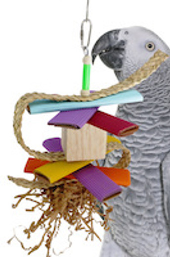 What is a great bird toy with lots of textures?