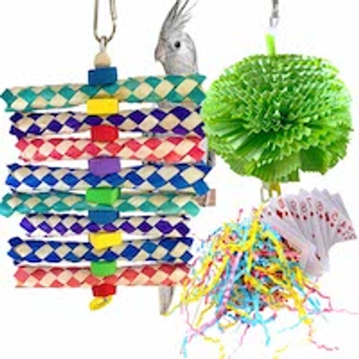 What are great shreddable bird toys for small birds?