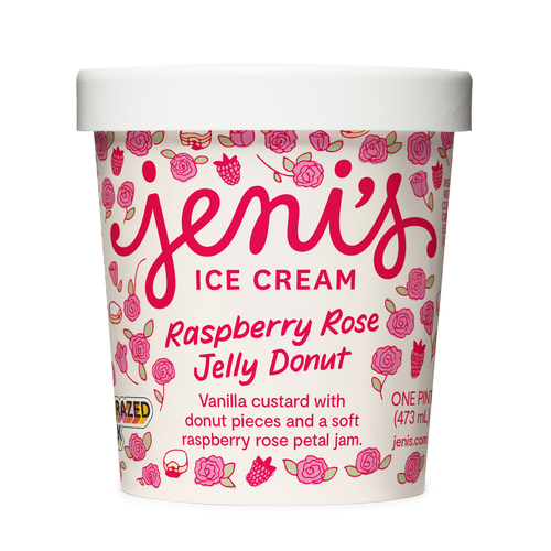 Raspberry Rose Jelly Donut - Jeni's Splendid Ice Creams