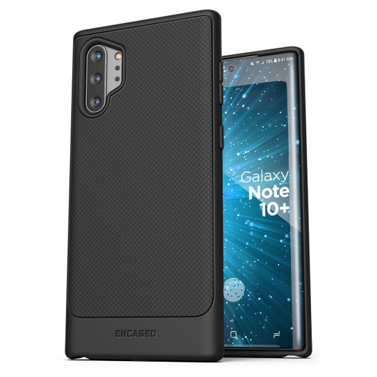 Slim Grip Cover with Holster Thin Armor Encased Galaxy Note 10 Belt Clip Case Black Samsung Note 10