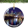 Porcelain Philadelphia Christmas Ornament