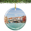Italian Porcelain Venice Christmas Ornament