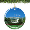 Porcelain Washington DC White House Christmas Ornament