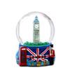 Landmarks and Big Ben London Snow Globe with Union Jack Flag