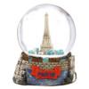 Paris Landmarks and Eiffel Tower Snow Globe